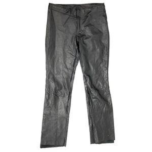 GUESS Black Leather Pants Low Waist Sz 8